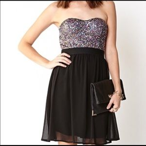 🌈 Cute Forever 21 rainbow sequin party dress